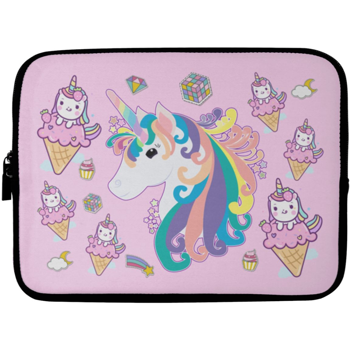 Twinkle Unicorn Laptop Sleeve Case Apparel Laptop Sleeve - 10 inch