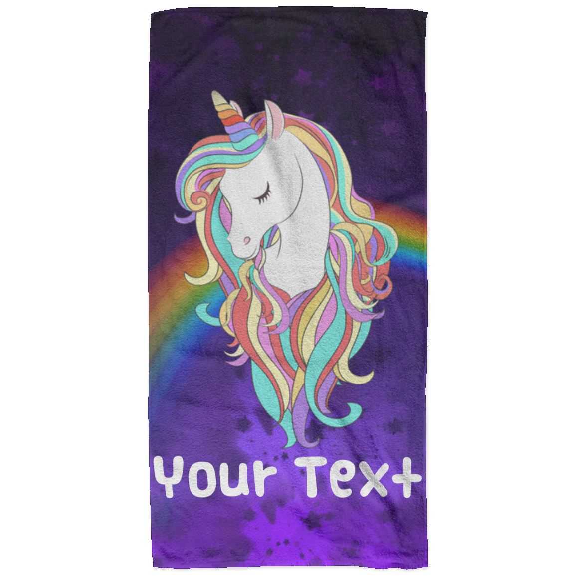 Personalized Magical Unicorn Beach Towel - 32x64 Towels 32 x 64