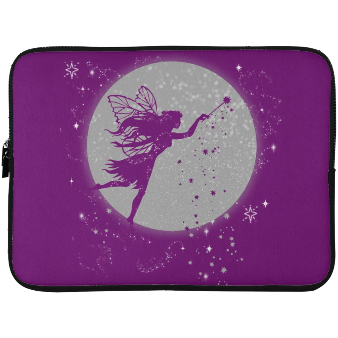 Fairy Moon Laptop Sleeve Apparel Laptop Sleeve - 15 Inch Purple One Size