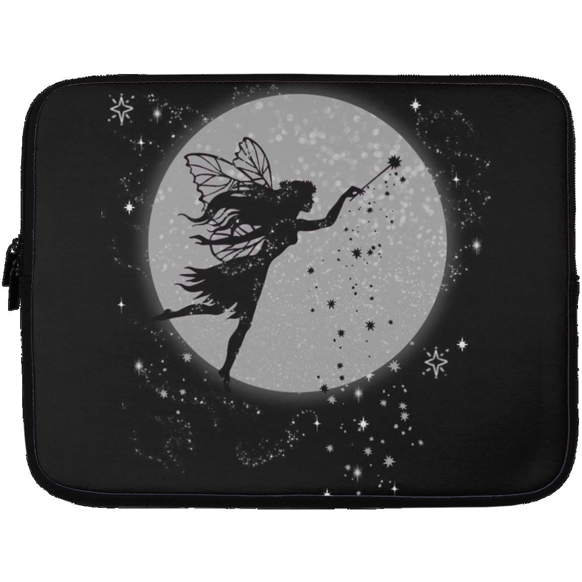 Fairy Moon Laptop Sleeve Apparel Laptop Sleeve - 13 inch Black One Size