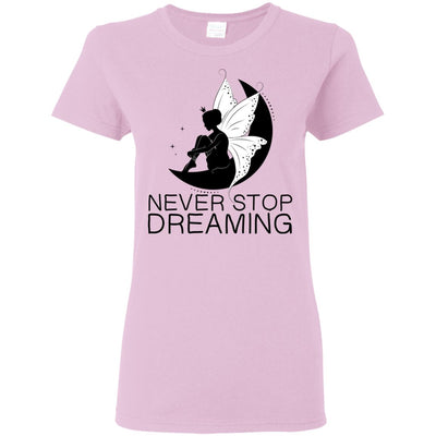 Never Stop Dreaming Fairy T-Shirt T-Shirts Light Pink S