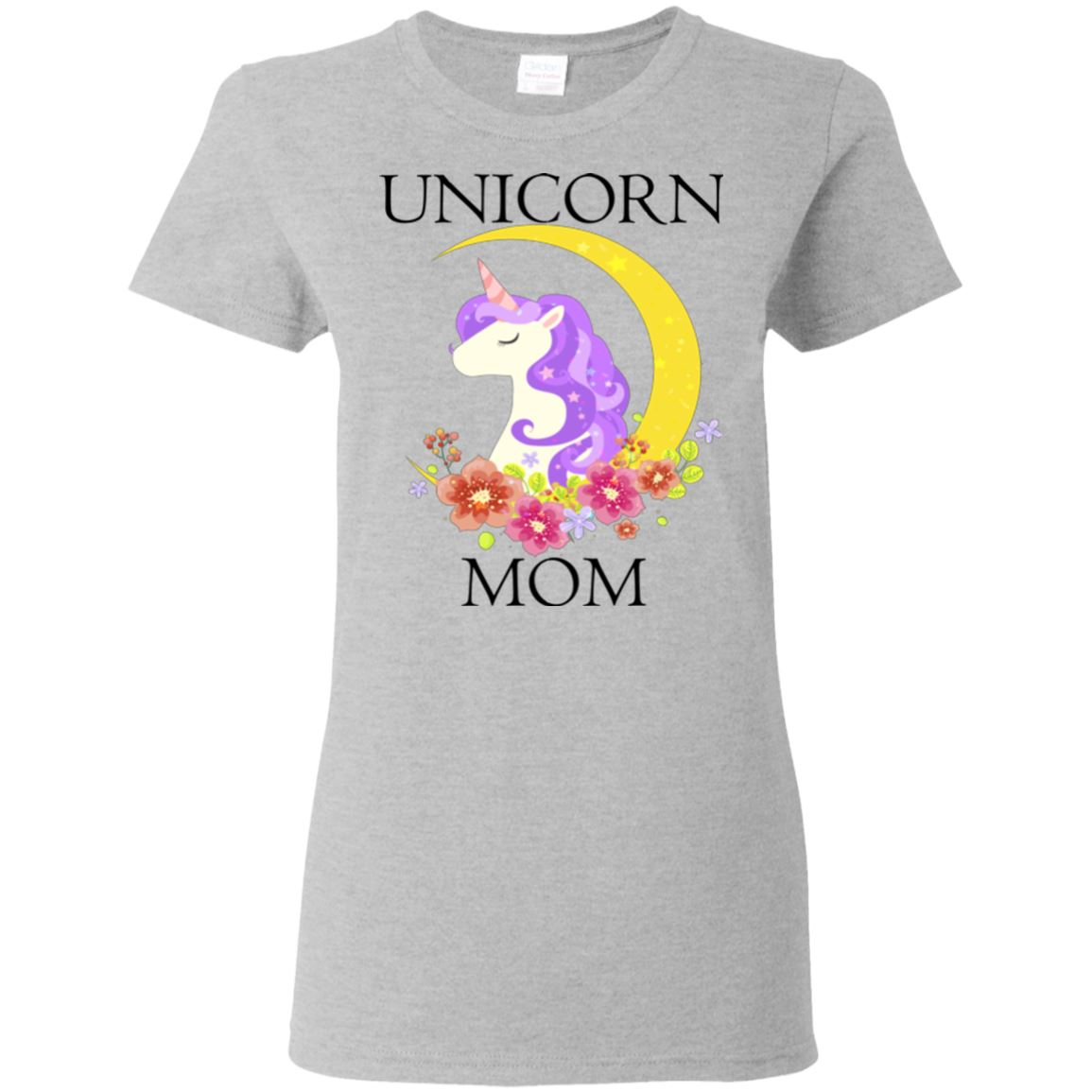 Unicorn Mom Ladies T-Shirt Apparel Sport Grey S