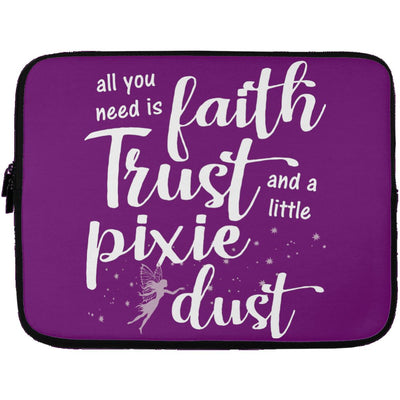 Pixie Dust Fairy Laptop Sleeve Apparel Laptop Sleeve - 13 inch Purple One Size