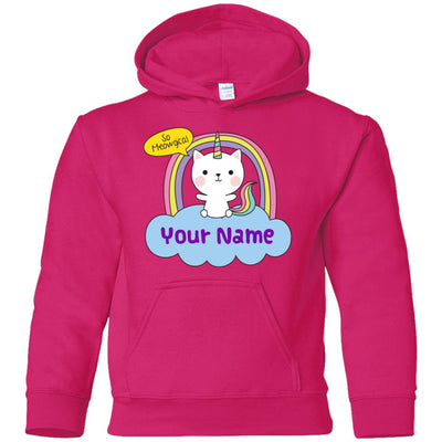 Personalized Meowgical Youth Pullover Hoodie Sweatshirts Heliconia YS