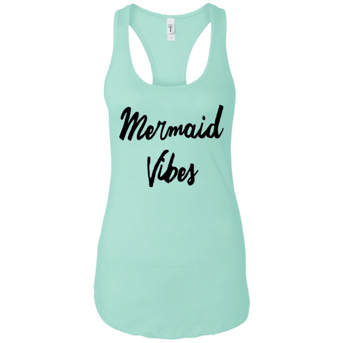 Mermaid Vibes Level Ladies Racerback Tank Mermaid Apparel Mint X-Small