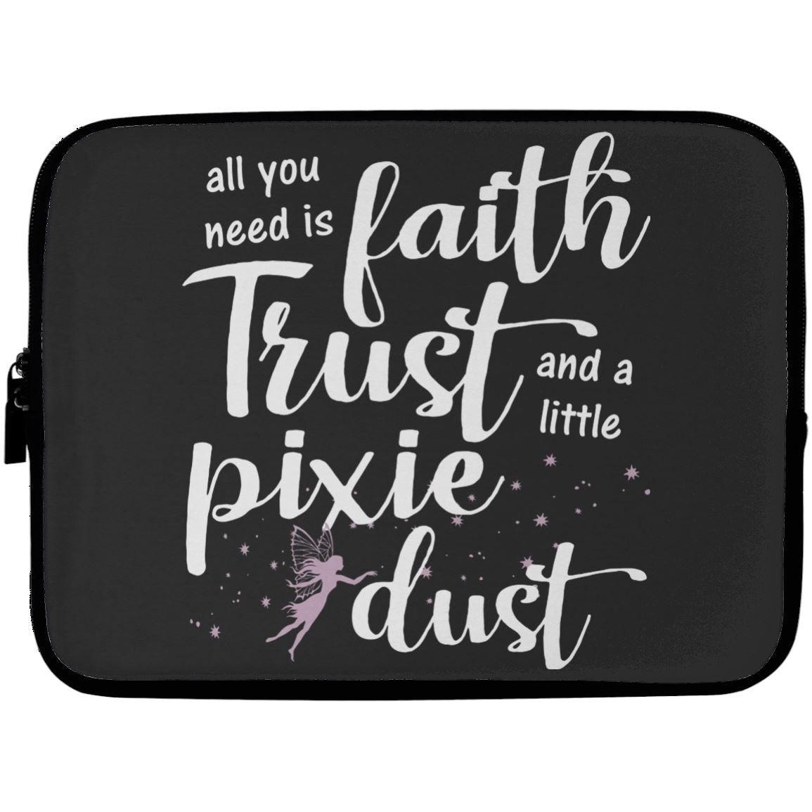 Pixie Dust Fairy Laptop Sleeve Apparel Laptop Sleeve - 10 inch Black One Size