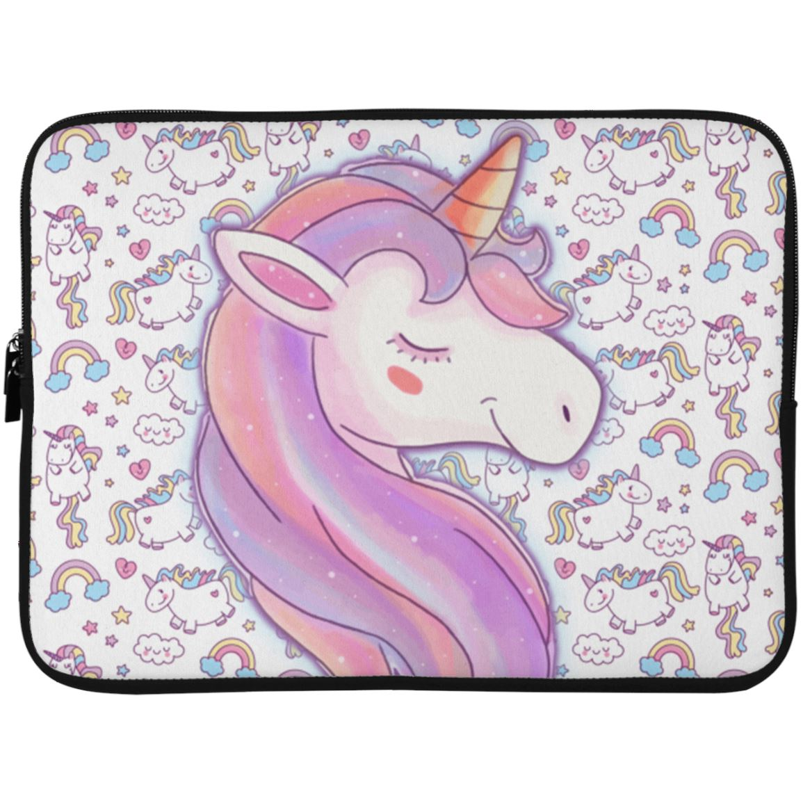 Unicorn Love Laptop Sleeve Apparel Laptop Sleeve - 15 Inch White One Size