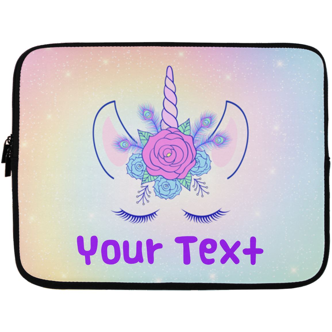 Personalized Unicorn Flowers Laptop Case Sleeve Accessories Laptop Sleeve - 13 inch