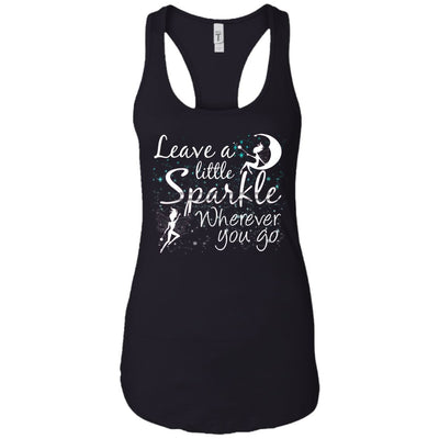 Leave A Little Sparkle Women's Racerback Tank T-Shirts Black X-Small