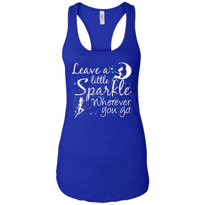 Leave A Little Sparkle Women's Racerback Tank T-Shirts Royal X-Small