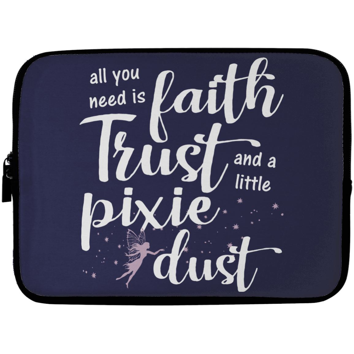 Pixie Dust Fairy Laptop Sleeve Apparel Laptop Sleeve - 10 inch Navy One Size