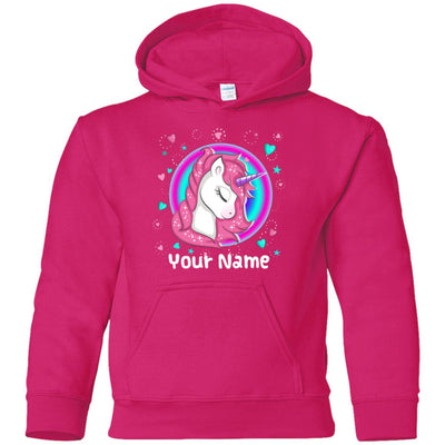 Personalized Magical Unicorn Youth Hoodie Sweatshirts Heliconia Youth Small