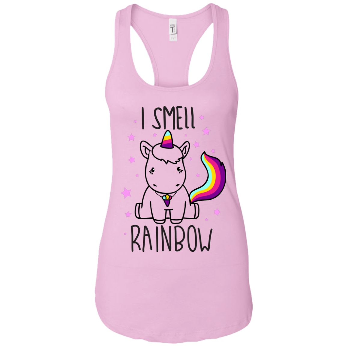 I Smell Rainbow Women's Racerback Tank Apparel Lilac X-Small