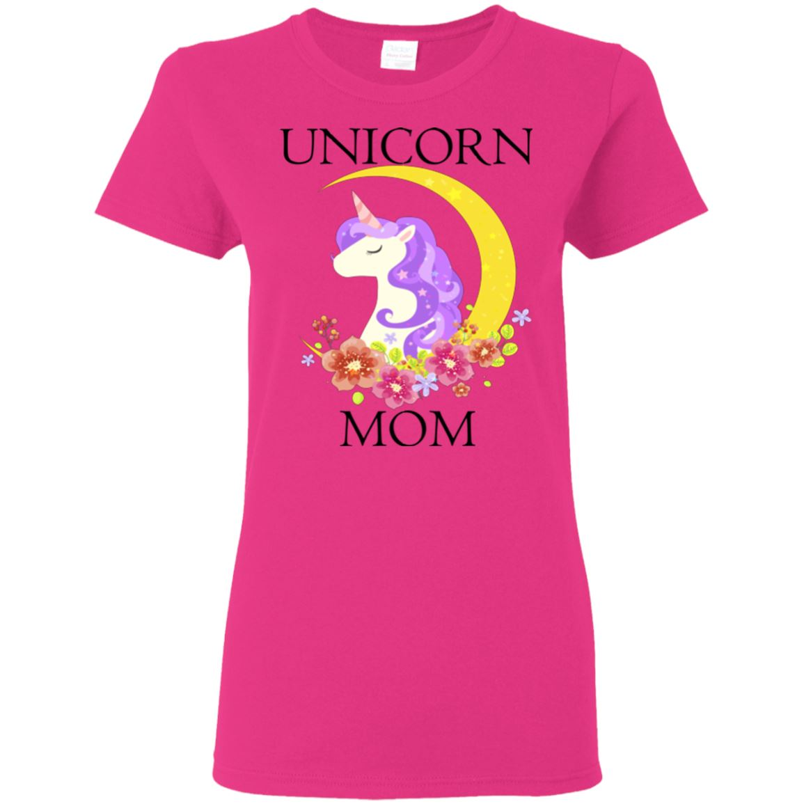 Unicorn Mom Ladies T-Shirt Apparel Heliconia S