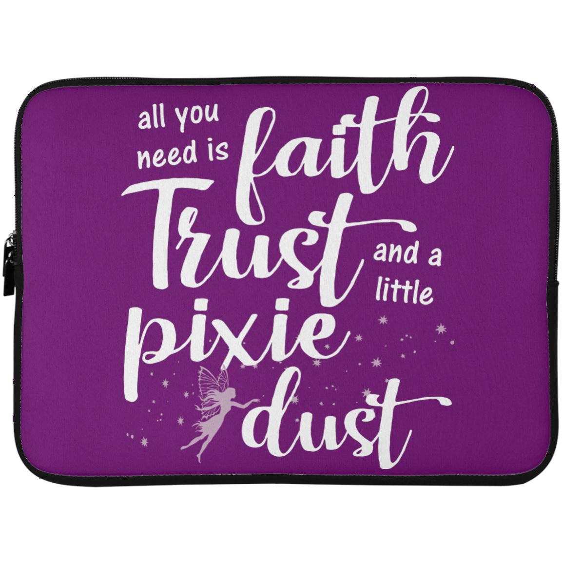 Pixie Dust Fairy Laptop Sleeve Apparel Laptop Sleeve - 15 Inch Purple One Size