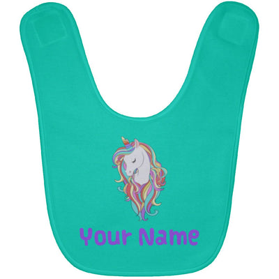 Personalized Magical Unicorn Baby Bib Unicorn Baby Items Teal