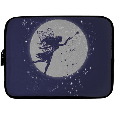 Fairy Moon Laptop Sleeve Apparel Laptop Sleeve - 10 inch Navy One Size