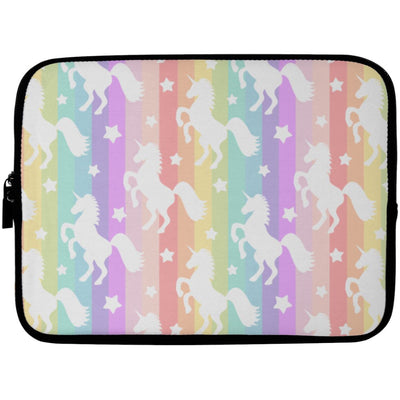 Unicorn Rainbows Laptop Sleeve Apparel Laptop Sleeve - 10 inch White One Size