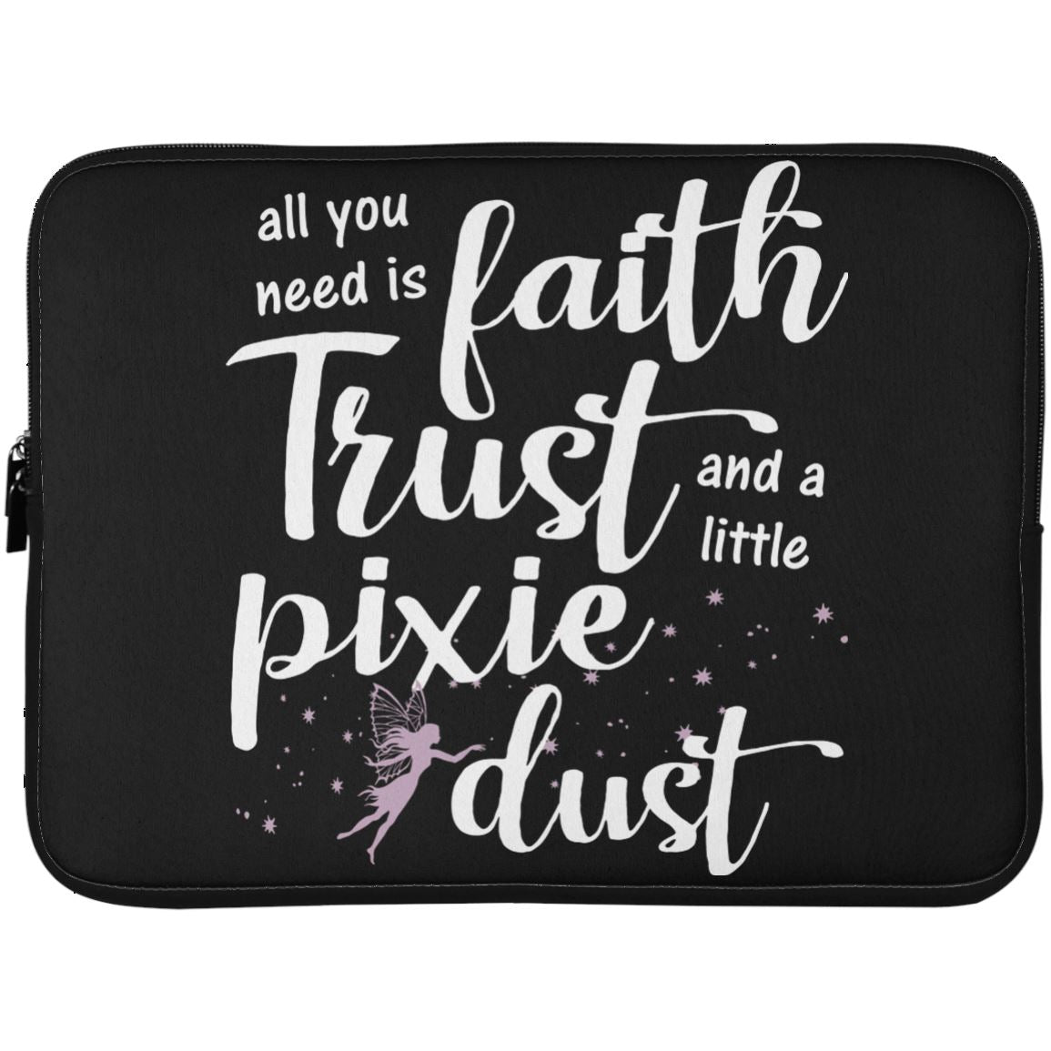 Pixie Dust Fairy Laptop Sleeve Apparel Laptop Sleeve - 15 Inch Black One Size