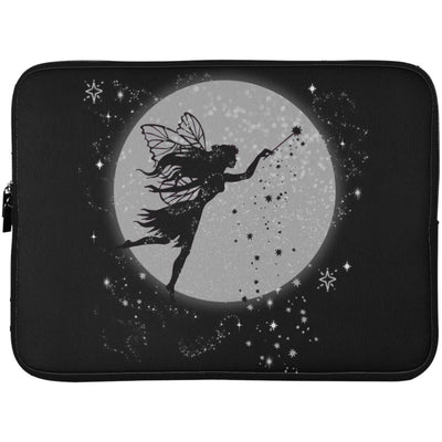 Fairy Moon Laptop Sleeve Apparel Laptop Sleeve - 15 Inch Black One Size