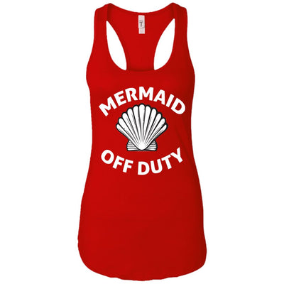 Mermaid Off Duty Ladies Racerback Tank Mermaid Apparel Red X-Small