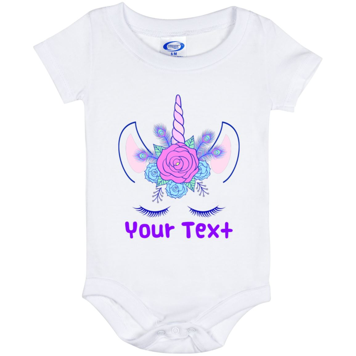 Personalized Unicorn Flowers Baby Onesie Unicorn Baby Items 6 Month