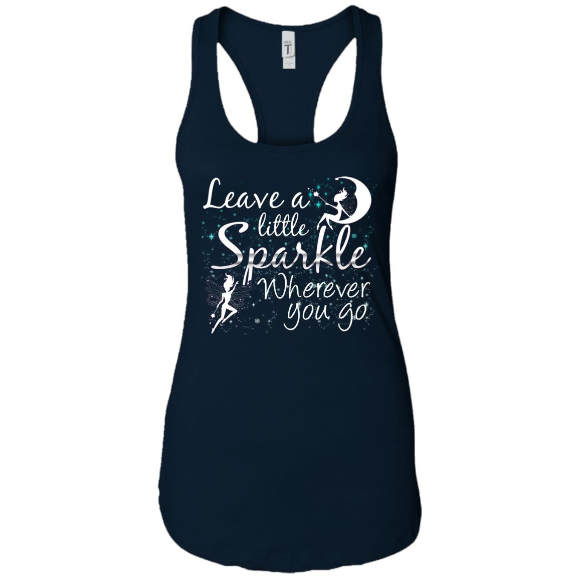Leave A Little Sparkle Women's Racerback Tank T-Shirts Midnight Navy X-Small