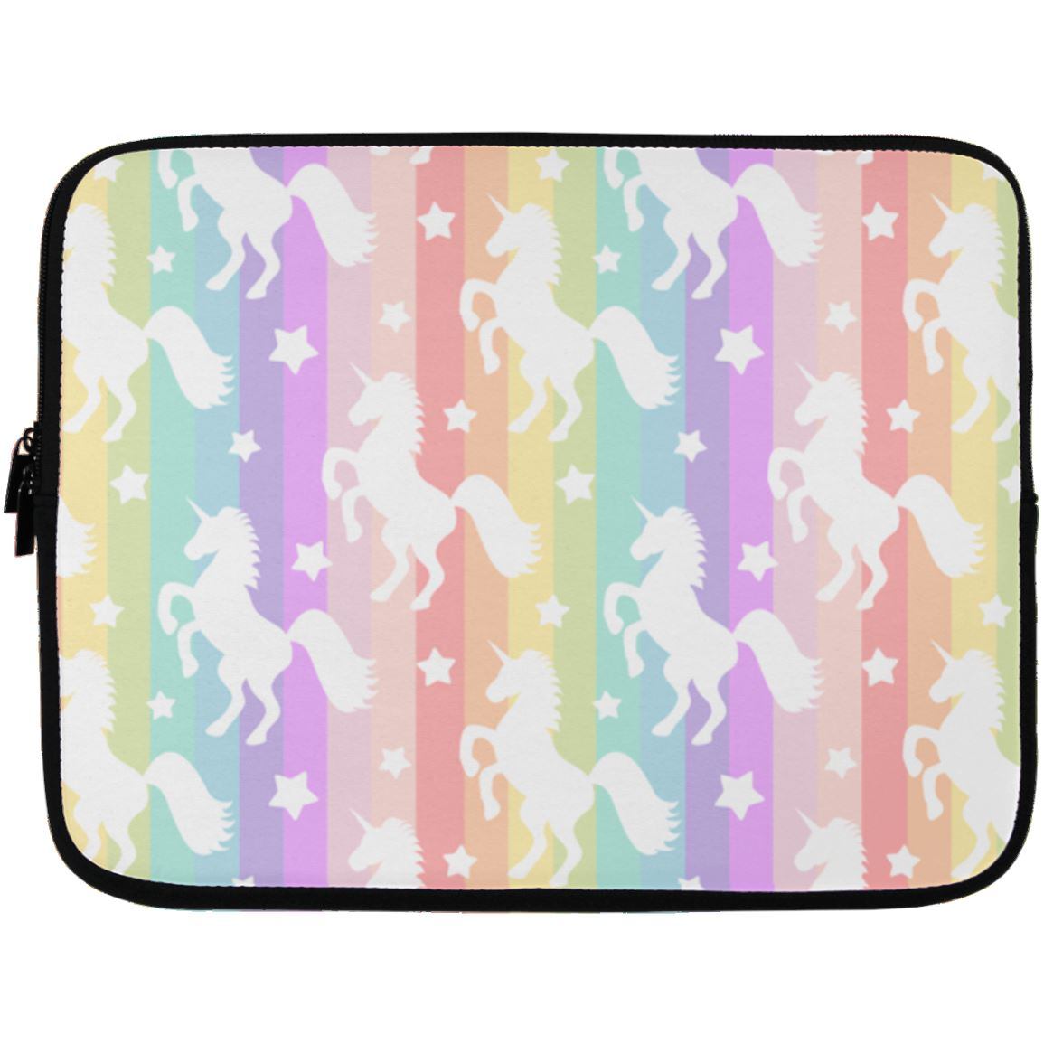 Unicorn Rainbows Laptop Sleeve Apparel Laptop Sleeve - 13 inch White One Size