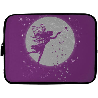 Fairy Moon Laptop Sleeve Apparel Laptop Sleeve - 10 inch Purple One Size