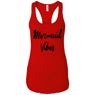 Mermaid Vibes Level Ladies Racerback Tank Mermaid Apparel Red X-Small
