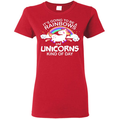 Unicorn & Rainbow Kind of Day Women's T-Shirt Apparel Red S