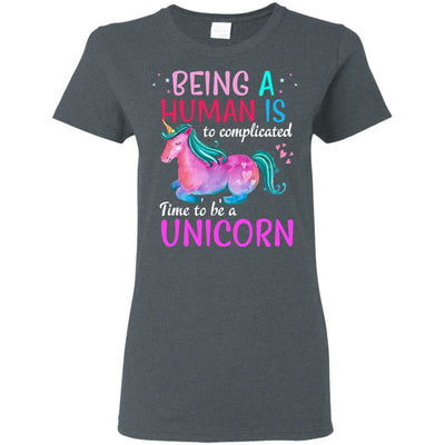 Time To Be A Unicorn Women's T-Shirt Apparel Dark Heather S