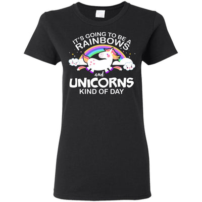 Unicorn & Rainbow Kind of Day Women's T-Shirt Apparel Black S