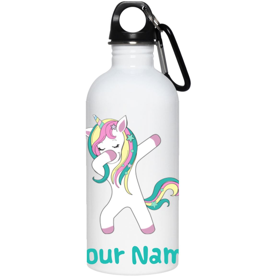 Personalized Dabbing Unicorn Stainless Water Bottle Drinkware One Size