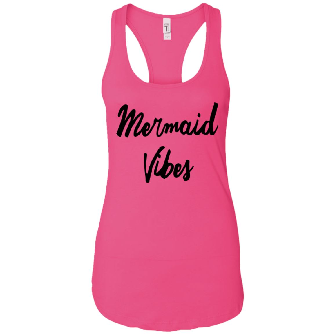 Mermaid Vibes Level Ladies Racerback Tank Mermaid Apparel Raspberry X-Small