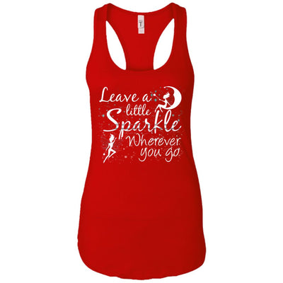 Leave A Little Sparkle Women's Racerback Tank T-Shirts Red X-Small