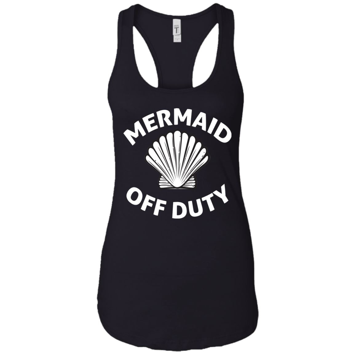 Mermaid Off Duty Ladies Racerback Tank Mermaid Apparel Black X-Small