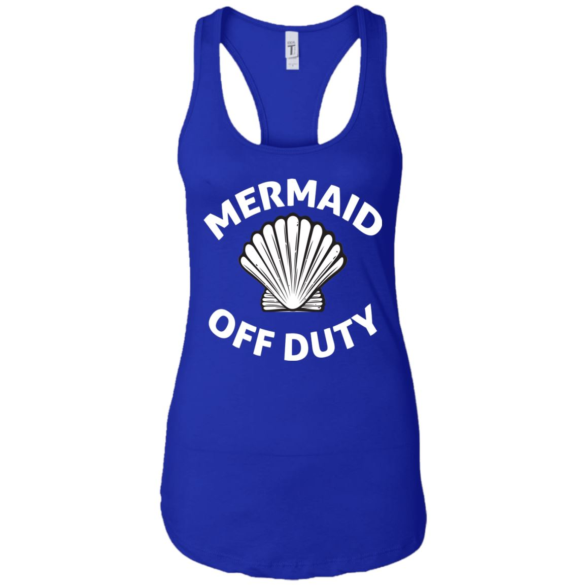 Mermaid Off Duty Ladies Racerback Tank Mermaid Apparel Royal X-Small