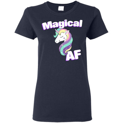 Magical AF Ladies' T-Shirt Apparel Navy S