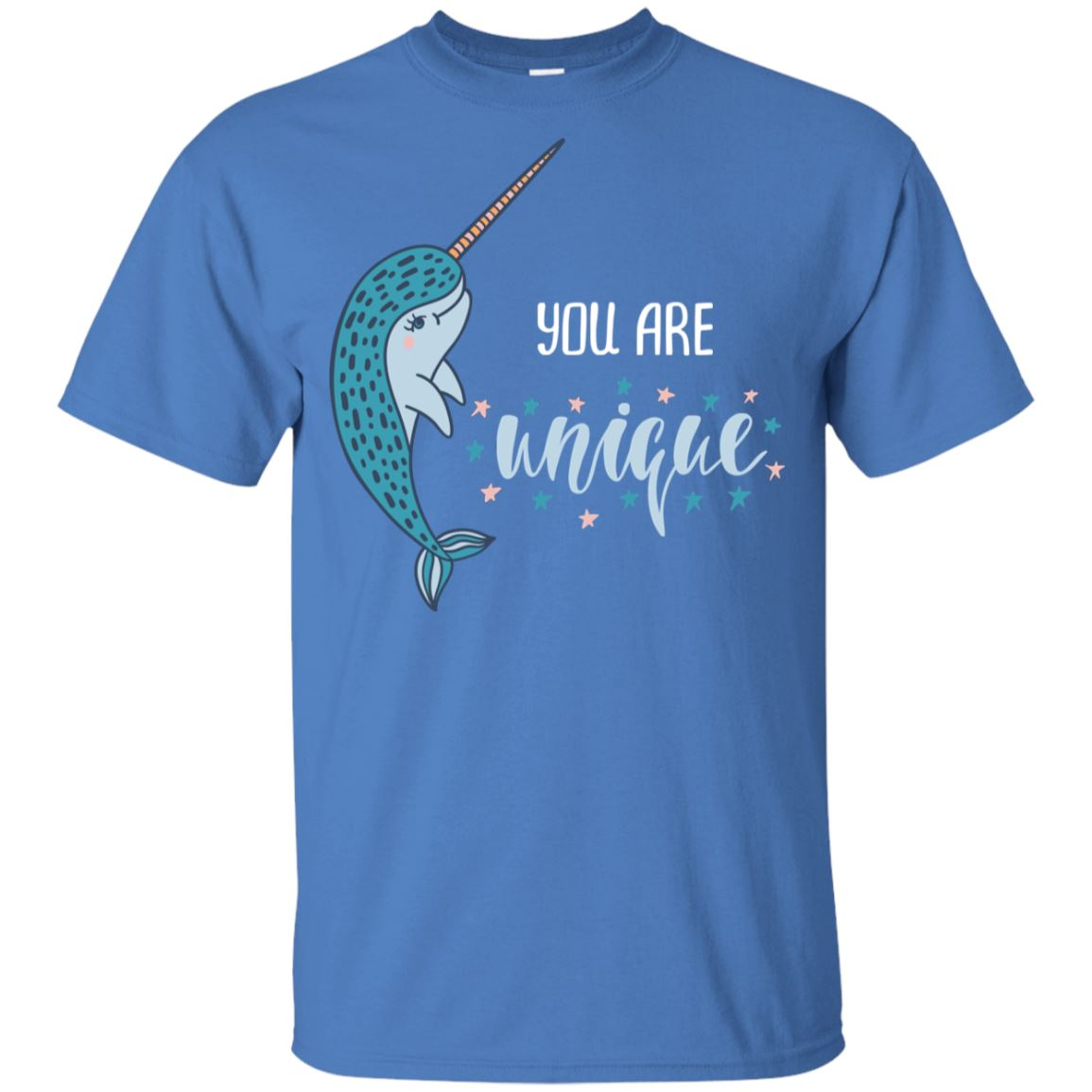 You Are Unique Narwhal Youth Ultra Cotton T-Shirt Mermaid Apparel Iris YXS