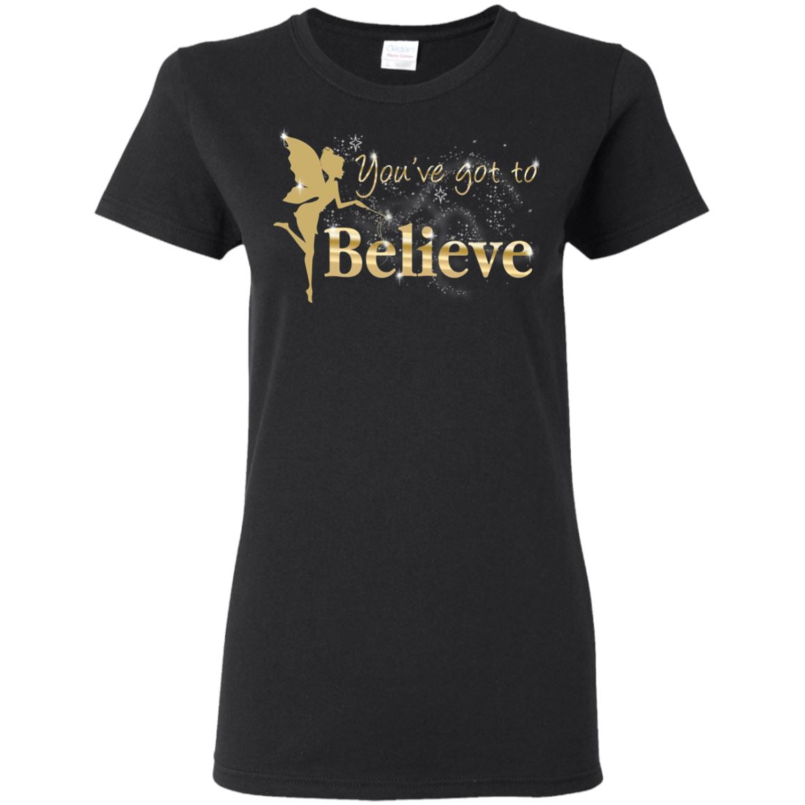 You've Got To Believe Fairy T-Shirt T-Shirts Black S