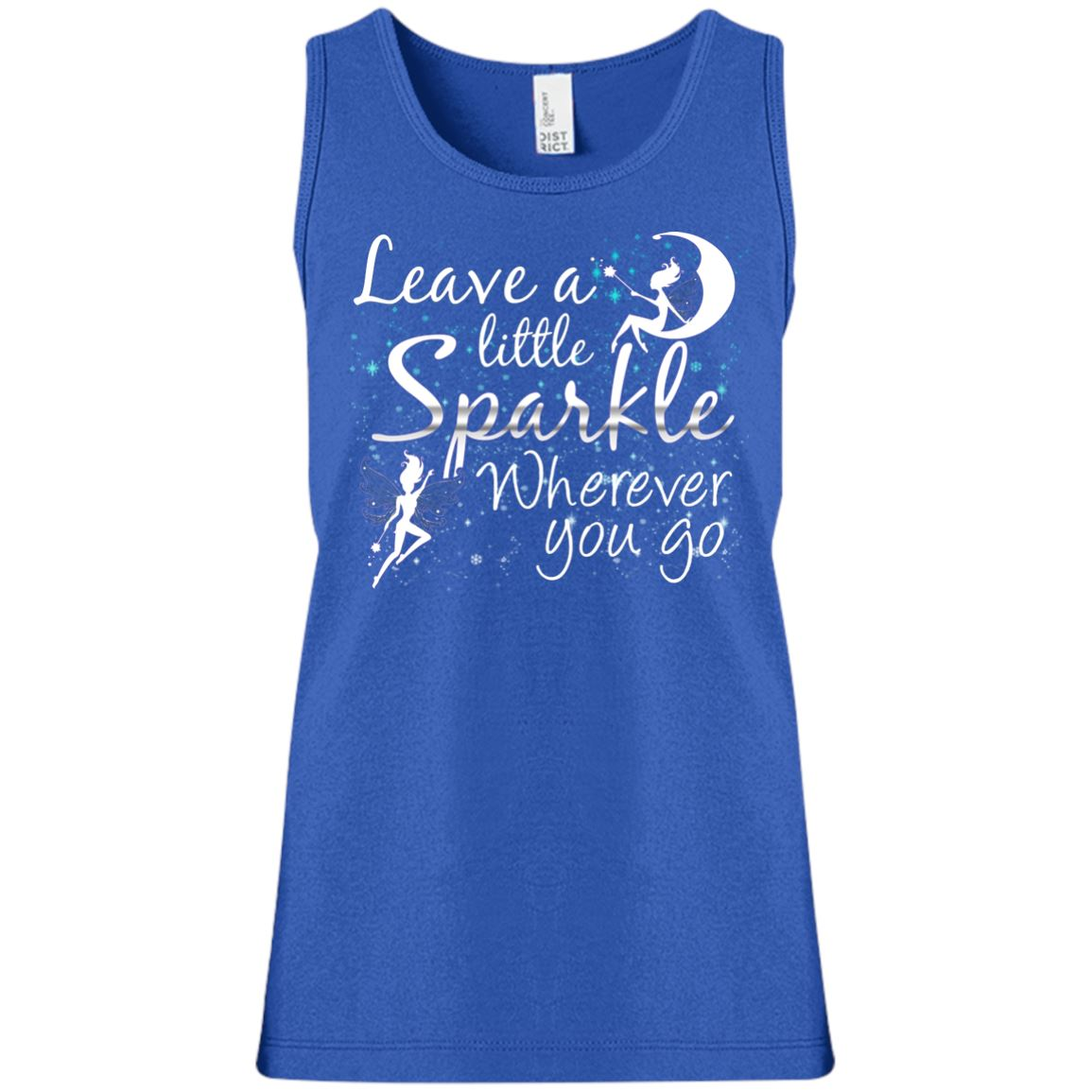 Leave A Little Sparkle Fairy Girls' Tank Top T-Shirts Deep Royal YXS