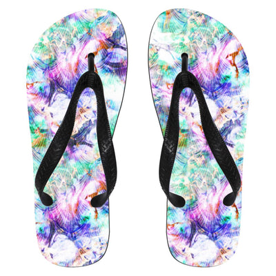 Marbled Mermaid Flip Flops Mermaid Shoes Small