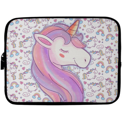 Unicorn Love Laptop Sleeve Apparel Laptop Sleeve - 10 inch White One Size