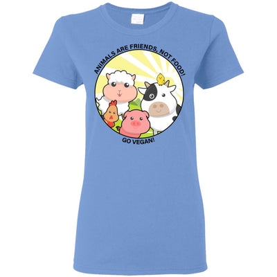 Animals Are Friends Apparel Women's Tshirt Carolina Blue S