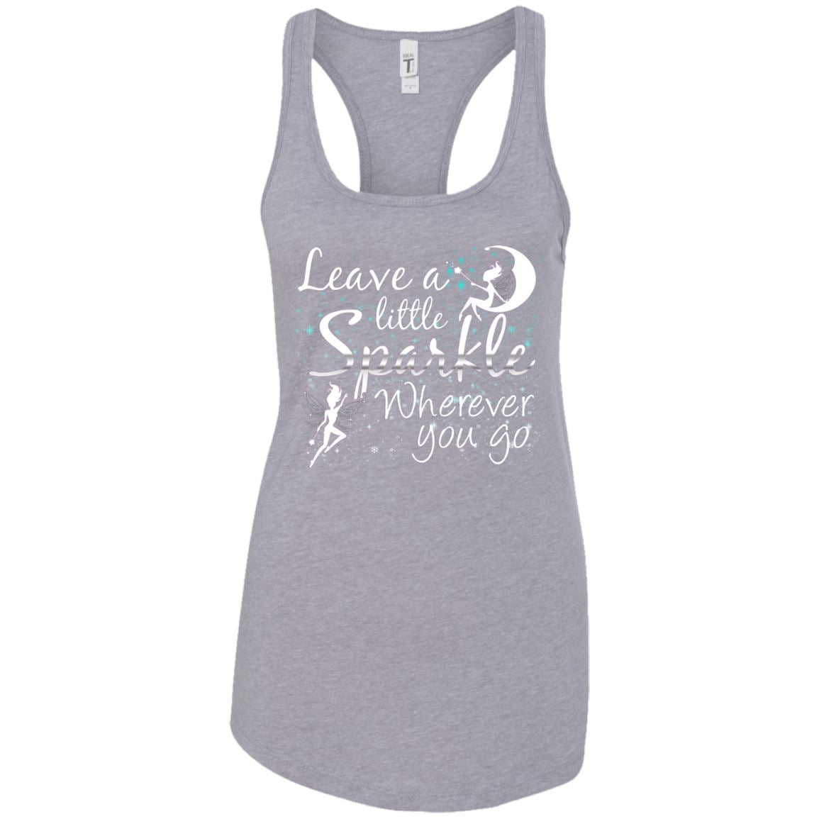 Leave A Little Sparkle Women's Racerback Tank T-Shirts Heather Grey X-Small