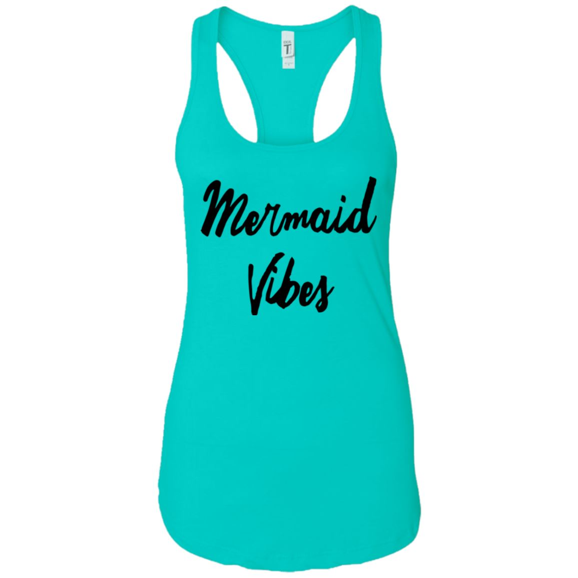 Mermaid Vibes Level Ladies Racerback Tank Mermaid Apparel Tahiti Blue X-Small