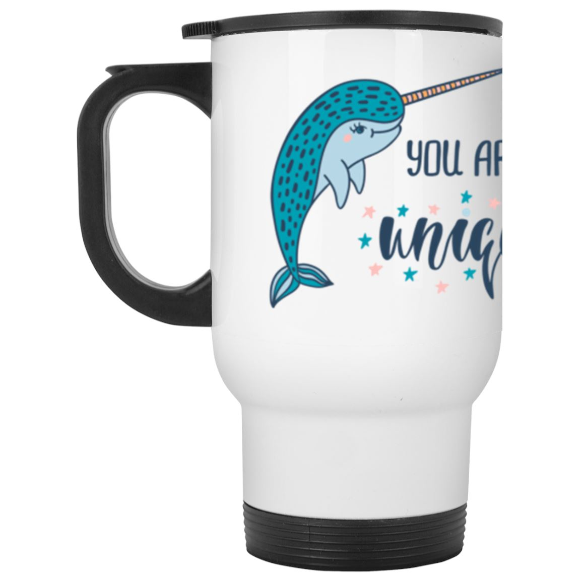 You Are Unique Narwhal Travel Mug Mermaid Drinkware One Size
