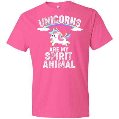 Unicorns Are My Spirit Animal Youth T-Shirt Apparel Neon Pink YXS