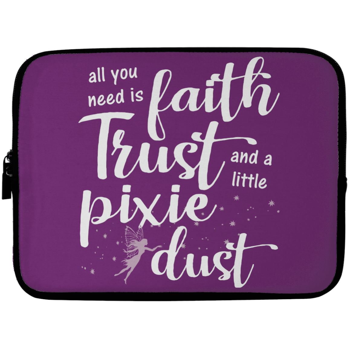Pixie Dust Fairy Laptop Sleeve Apparel Laptop Sleeve - 10 inch Purple One Size